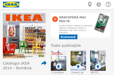 Aplicatia mobila Ikea Catalog 2014
